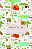 Read Online Farm Landscape Theme Art Wide Ruled Line Paper For Free
