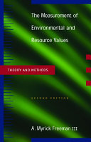 The Measurement of Environmental and Resource Values