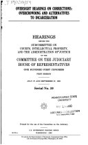 Oversight hearings on corrections