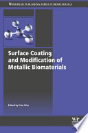 Surface Coating And Modification Of Metallic Biomaterials Book PDF