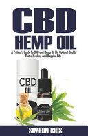 CBD Hemp Oil  A Patient