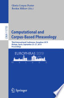 Computational And Corpus Based Phraseology