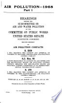 Air Pollution - 1968, Hearings Before the Subcommittee on Air and Water Pollution ...