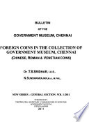 Foreign Coins in the Collection of Government Museum, Chennai
