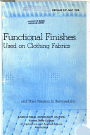 Functional Finishes Used on Clothing Fabrics and Their Relation to Serviceability Book