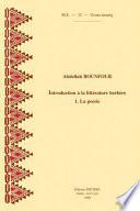 Introduction à la littérature berbère: La poésie