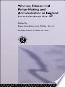 Women Educational Policy Making And Administration In England