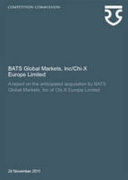 BATS Global Markets, Inc/Chi-X Europe Limited
