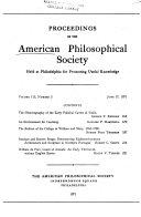 Proceedings, American Philosophical Society (vol. 115, No. 3, 1971) Pdf/ePub eBook
