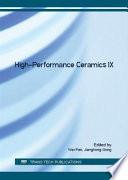 High Performance Ceramics IX