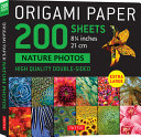 Origami Paper 200 Sheets Nature Photos 8 1 4  21 CM