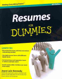 Resumes For Dummies  6th Edition   Job Search Letters For Dummies Bundle