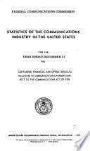 Statistics Of The Communications Industry In The United States For The Year Ended December 31