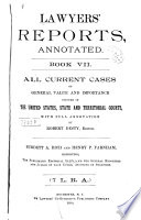 Lawyers  Reports Annotated Book