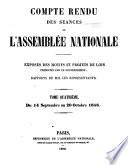 Compte rendu des séances de l'Assemblée nationale