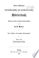 Neues vollstaendiges italienisch-deutsches und deutsch-italienisches Woerterbuch