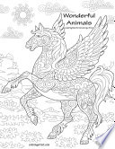 Wonderful Animals Coloring Book for Grown Ups 3   4