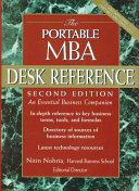 The Portable MBA Desk Reference