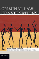 Criminal Law Conversations Book