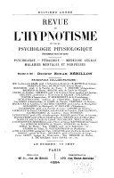 Revue de psychothérapie et de psychologie appliquée ...