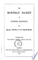 THE MONTHLY PACKET OF EVENING READINGS FOR YOUNGER MEMBERS OF THE ENGLISH CHURCH