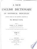 A New English Dictionary on Historical Principles