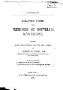 Selected Poems from Premières Et Nouvelles Méditations