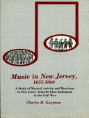 Pdf Music in New Jersey, 1655-1860 Telecharger