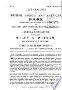 Catalogue Of British French And American Books On The Arts And Sciences History Theology And General Literature