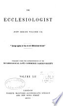 The Ecclesiologist Book