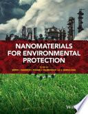 Nanomaterials for Environmental Protection Book