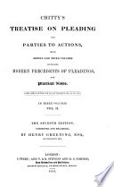 Chitty s Treatise on Pleading and Parties to Actions
