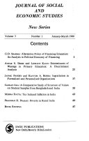 Journal Of Social And Economic Studies