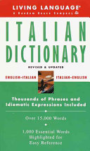 Living Language Italian Dictionary Book