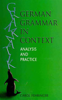 Cover of German Grammar in Context