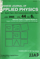Japanese Journal of Applied Physics Book