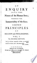 An Enquiry Into the Nature of the Human Soul