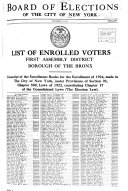 List Of Enrolled Voters