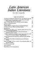Latin American Indian Literatures