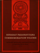 Senarat Paranavitana Commemoration Volume