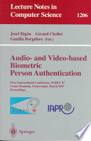 Audio And Video Based Biometric Person Authentication Book PDF