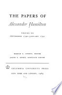 The Papers of Alexander Hamilton: Sept.1790-Jan.1791