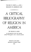 Religion In American Life A Critical Bibliography Of Religion In America 5 Pts In 2 V