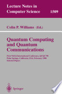 Quantum Computing and Quantum Communications