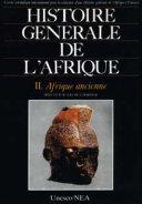 Histoire générale de l'Afrique : Afrique ancienne