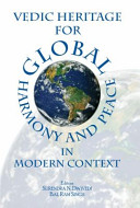 Vedic Heritage for Global Harmony and Peace in Modern Context Book PDF