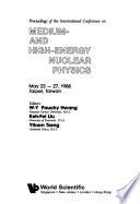 Medium and high energy nuclear physics