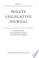 Senate legislative journal