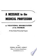The Doctor and Vocational Rehabilitation for Civilians