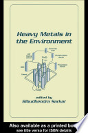 Heavy Metals In The Environment Book PDF